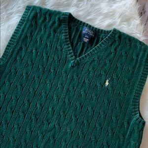 Polo Ralph Lauren Green Sweater Vest